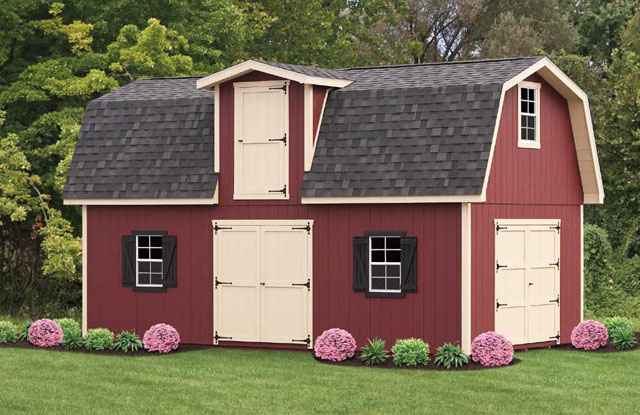 Two Story Gambrel Shed