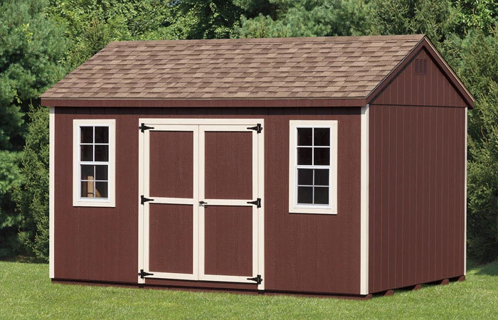 a frame keystone shed with small windows