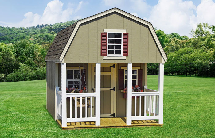 amish built custom dutch style playhouse