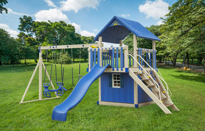 amish built outdoor swing set for sale in md