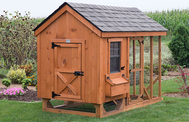 amish crafted wooden chicken coop for backyards