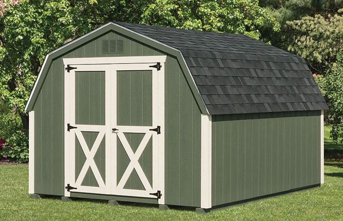 classic backyard green storage shed