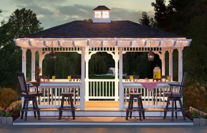 custom poolside pavilion in md