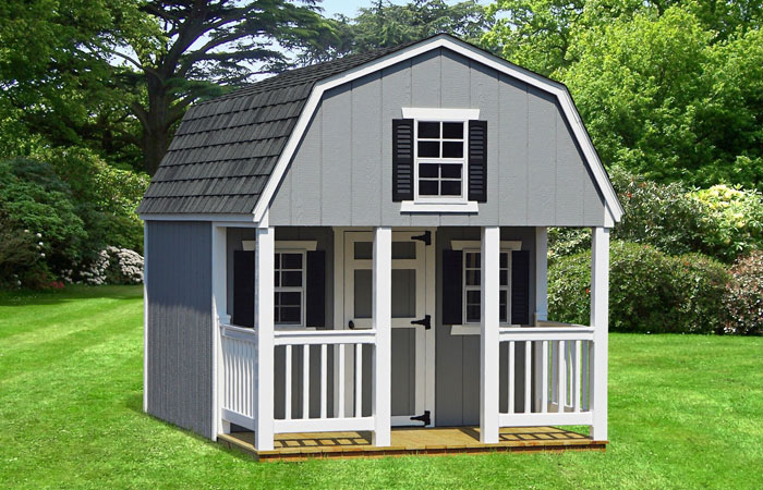 dutch style vinyl playhouse with porch nook in md