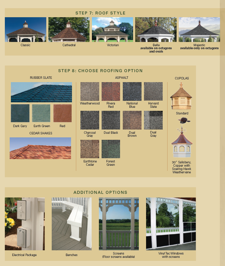 More Gazebo Options