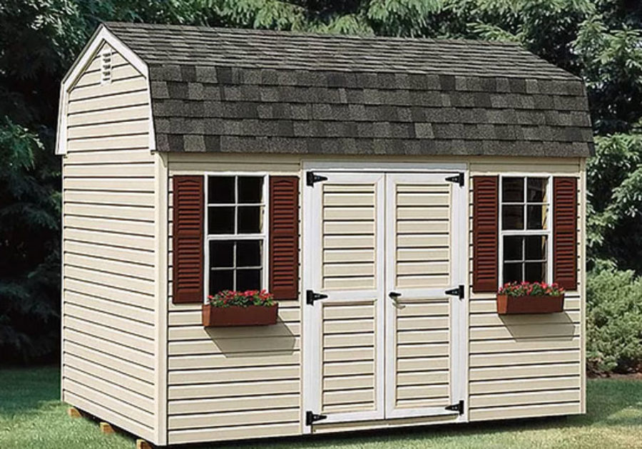 highwall series shed with curved roof