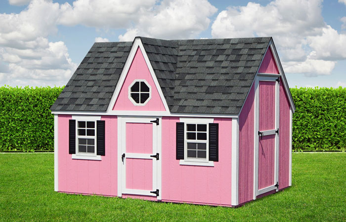 pink victorian outdoor playhouse in md