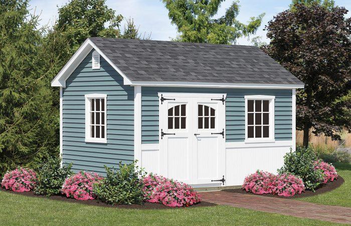 portsmouth blue a frame vinyl garden shed