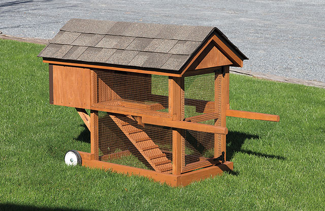 wooden rabbit hutch with wheels