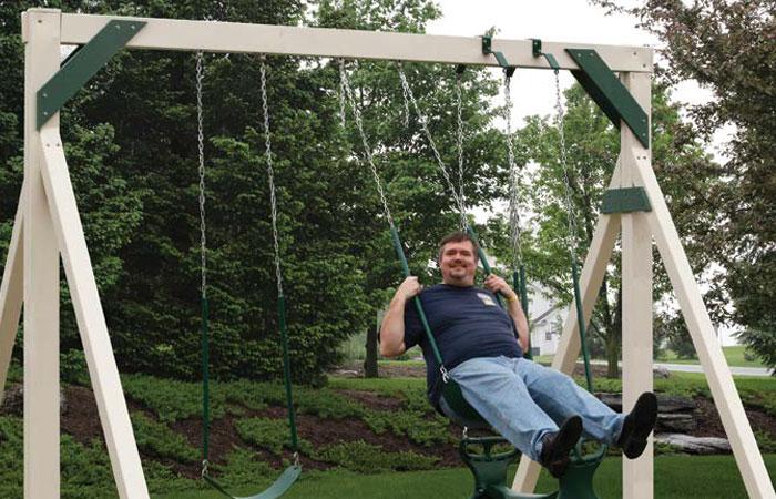 simple backyard swing set