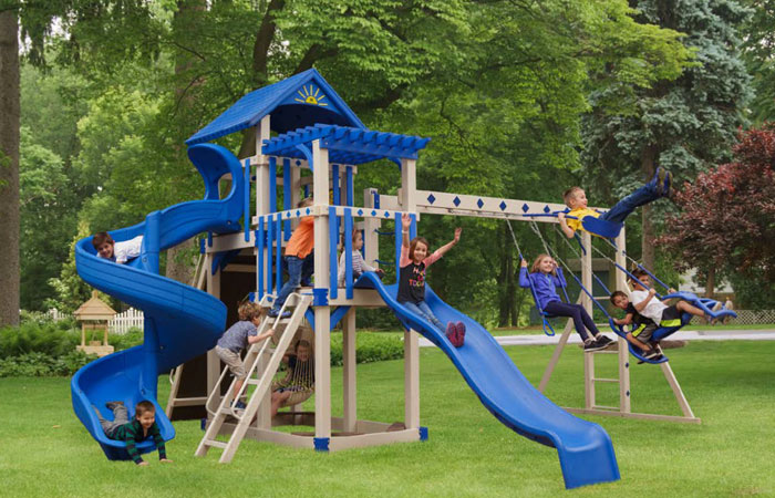 swing set with multiple slides for sale in md