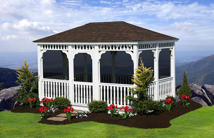 traditional style enclosed garden gazebo in md