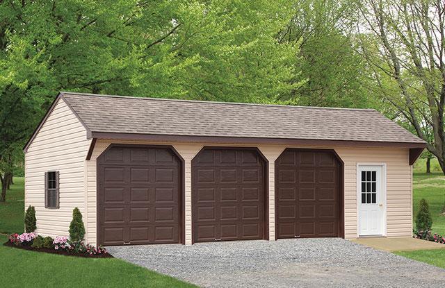amish built 8 foot storage garage